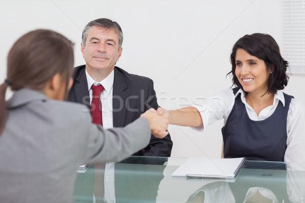 Two businesswomen shaking hands Stock photo © wavebreak_media