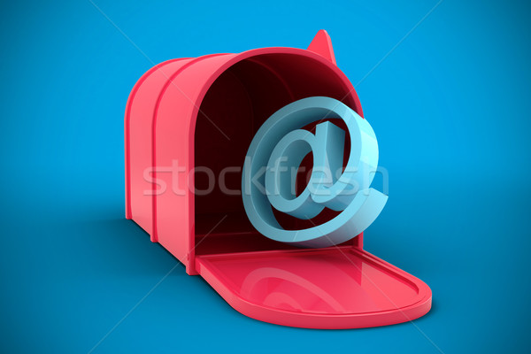 Composite image of red email post box Stock photo © wavebreak_media