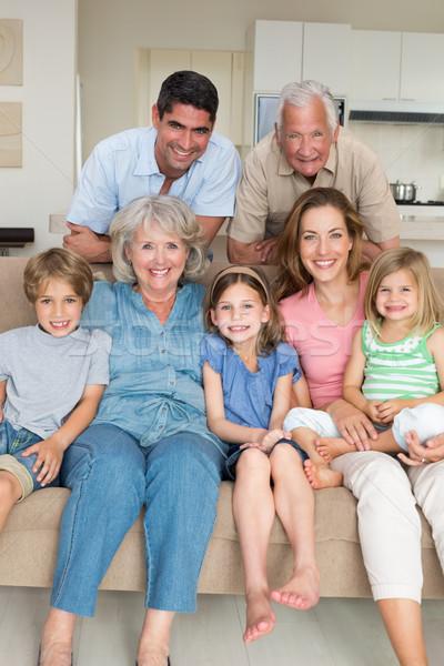 Happy multigeneration family at home Stock photo © wavebreak_media