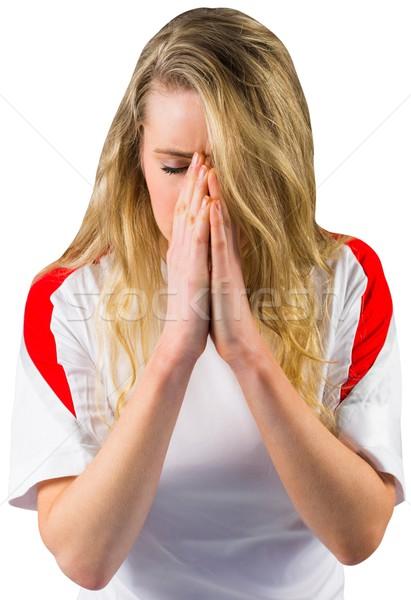 Nervous football fan in white Stock photo © wavebreak_media
