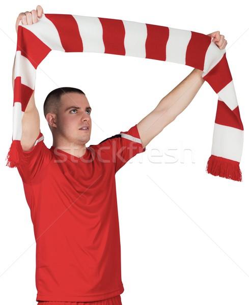 футболист полосатый шарф белый футбола Сток-фото © wavebreak_media
