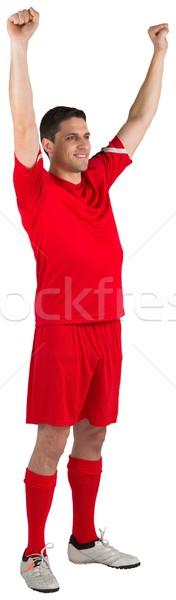 Heyecanlı beyaz adam futbol Stok fotoğraf © wavebreak_media