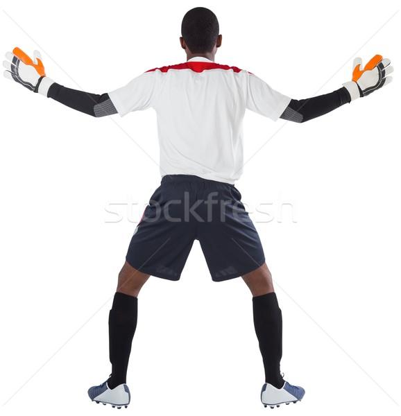 вратарь белый готовый сохранить футбола Gear Сток-фото © wavebreak_media