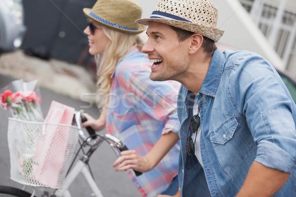 бедро велосипедах город человека Сток-фото © wavebreak_media