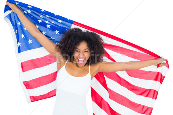 photos of girls jumping wrapped in american flag № 13444
