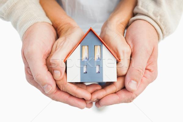 пару небольшой модель дома рук Сток-фото © wavebreak_media