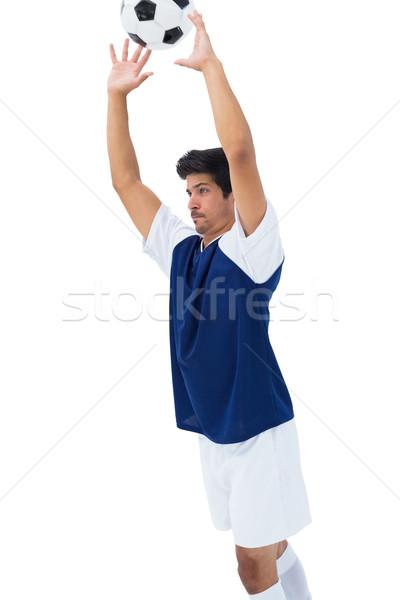 Futballista fehér dob labda sport futball Stock fotó © wavebreak_media