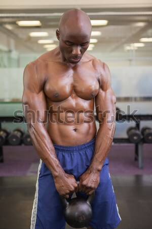 Torse nu musculaire homme gymnase Photo stock © wavebreak_media