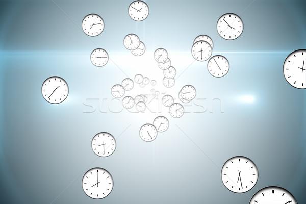 генерируется часы шаблон серый Сток-фото © wavebreak_media