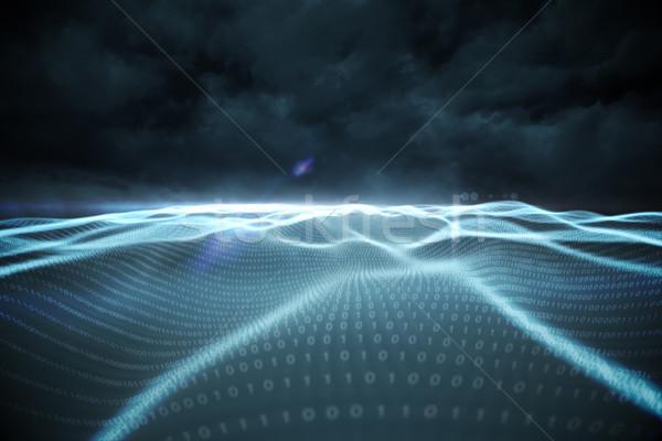 Digitaal gegenereerde binaire code landschap zwarte Stockfoto © wavebreak_media