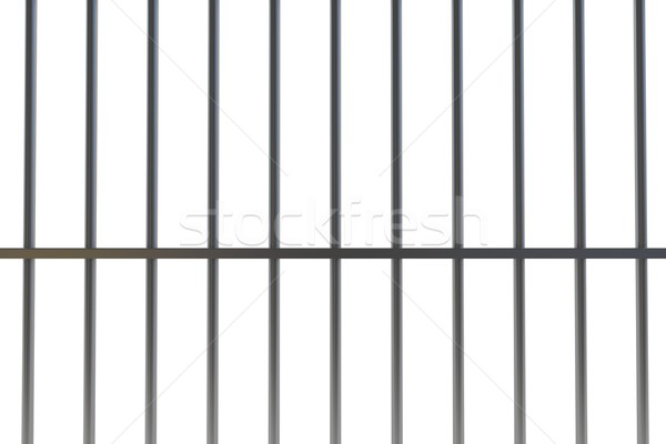 digitally generated metal prison bars stock photo © wavebreak