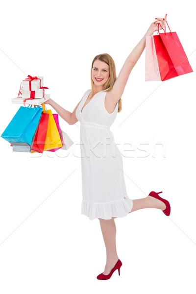 Elegante presentes branco retrato Foto stock © wavebreak_media