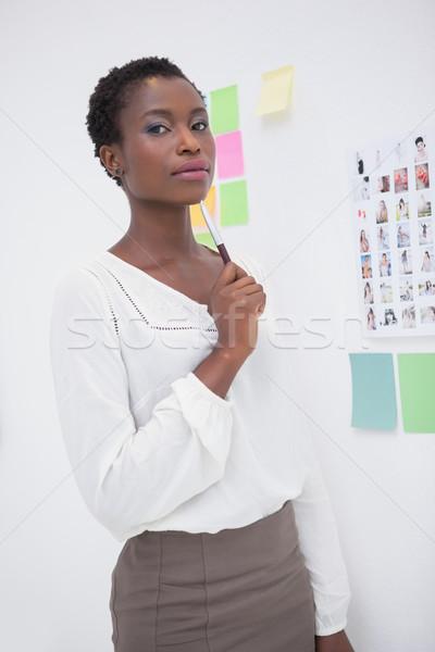 ストックフォト: デザイナー · 立って · ペン · オフィス
