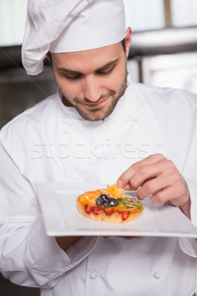 Gericht bakker bloem gebak vruchten keuken Stockfoto © wavebreak_media