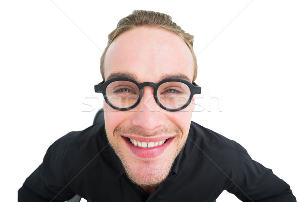 Ritratto sorridere geek shirt bianco imprenditore Foto d'archivio © wavebreak_media