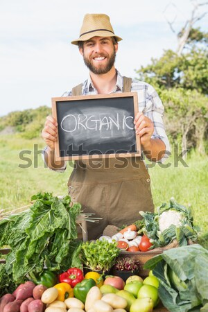 農家 販売 オーガニック 作り出す 男 ストックフォト © wavebreak_media