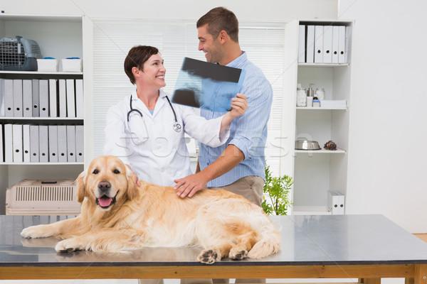 Vétérinaire xray chien propriétaire médicaux Photo stock © wavebreak_media