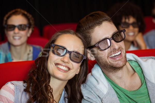 смотрят 3D фильма кино счастливым Сток-фото © wavebreak_media