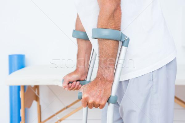 Patient standing with crutch  Stock photo © wavebreak_media