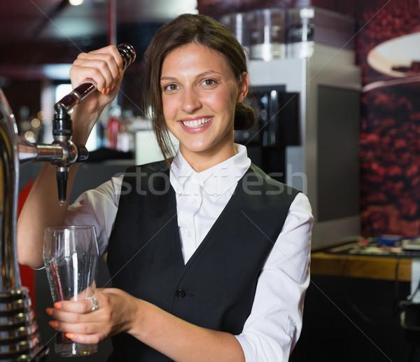 Gelukkig pint bier bar glas Stockfoto © wavebreak_media