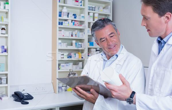 Lek piśmie recepta apteki medycznych Zdjęcia stock © wavebreak_media
