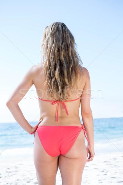 Bikini piedi mare spiaggia donna Foto d'archivio © wavebreak_media