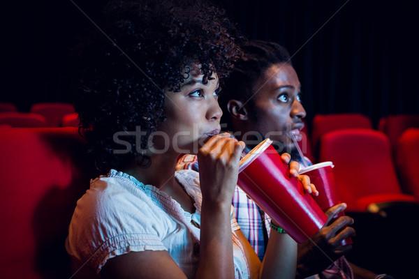 смотрят фильма кино женщину стекла Сток-фото © wavebreak_media