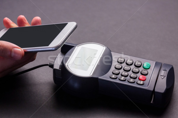 Man smartphone salaris grijs business Stockfoto © wavebreak_media