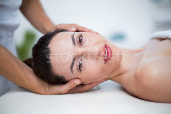 Nek massage medische kantoor vrouw gezondheid Stockfoto © wavebreak_media