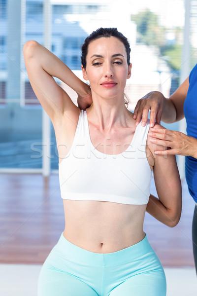 Mulher braço terapeuta médico escritório Foto stock © wavebreak_media