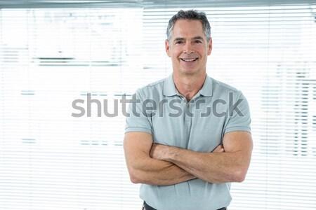 Heureux bel homme blanche sourire visage Photo stock © wavebreak_media