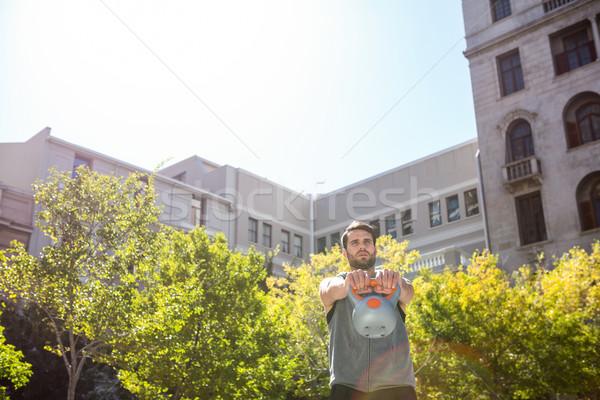Bello atleta bollitore campana città Foto d'archivio © wavebreak_media