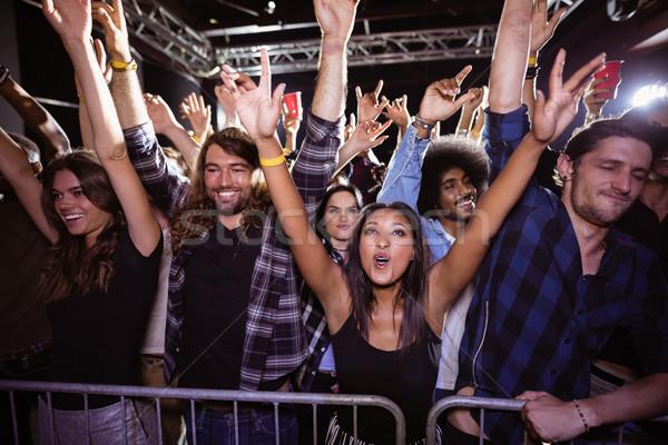 Felice folla festival di musica discoteca donna Foto d'archivio © wavebreak_media