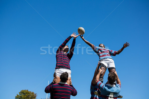 Low angle view of teams playing rugby Stock photo © wavebreak_media