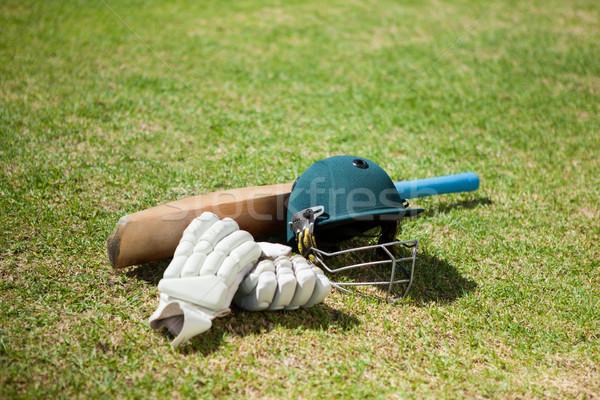 Stockfoto: Cricket · uitrusting · veld