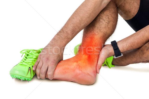 Nogi ranny człowiek biały digital composite ciało Zdjęcia stock © wavebreak_media