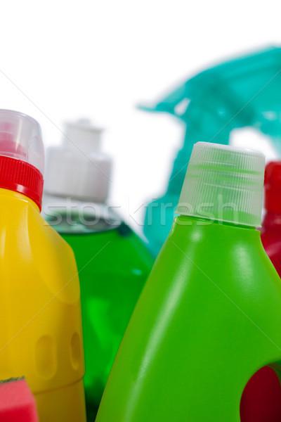 Various detergent bottles on white background Stock photo © wavebreak_media