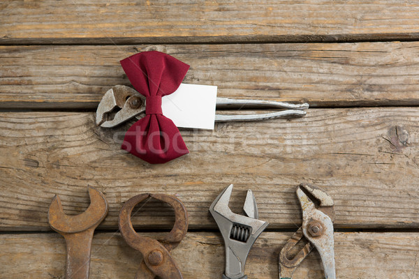 Overhead view of fathers day gift on table Stock photo © wavebreak_media