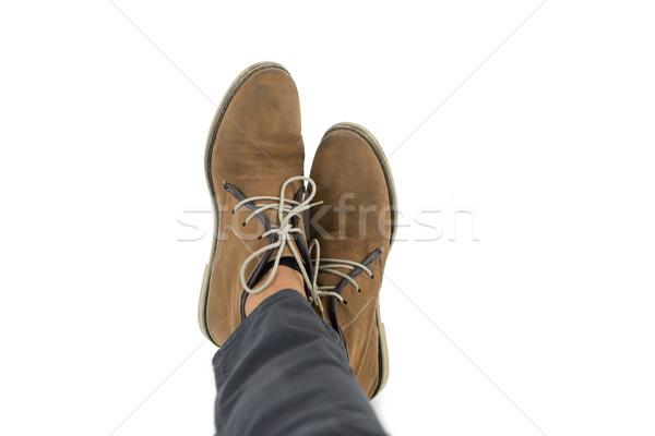 Low section of man wearing shoes Stock photo © wavebreak_media