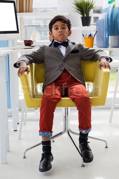 肖像 ビジネスマン 座って アームチェア オフィス 子 ストックフォト © wavebreak_media