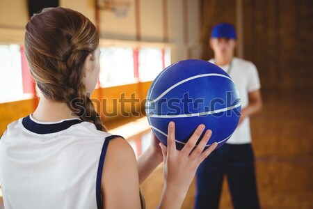 監督 女性 プレーヤー バレーボール 裁判所 ストックフォト © wavebreak_media