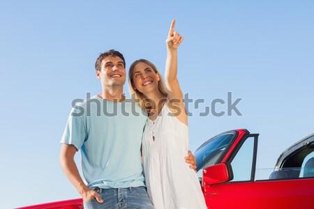 Férfi nő mutat el út jármű Stock fotó © wavebreak_media