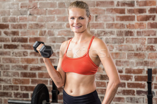 Fit woman exercising with dumbbell Stock photo © wavebreak_media
