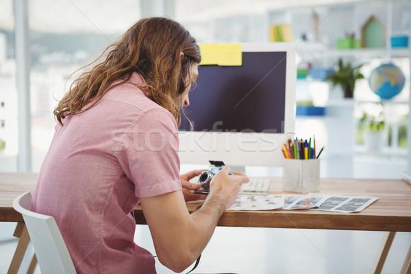 Câmera sessão secretária computador escritório Foto stock © wavebreak_media