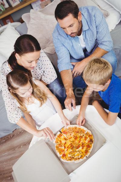 Ver família pizza fatias Foto stock © wavebreak_media
