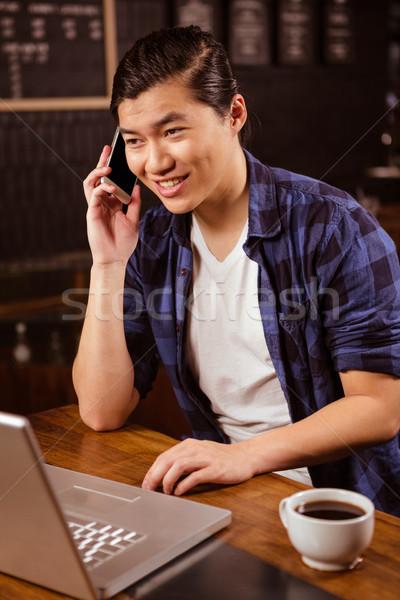 Man making a phone call Stock photo © wavebreak_media