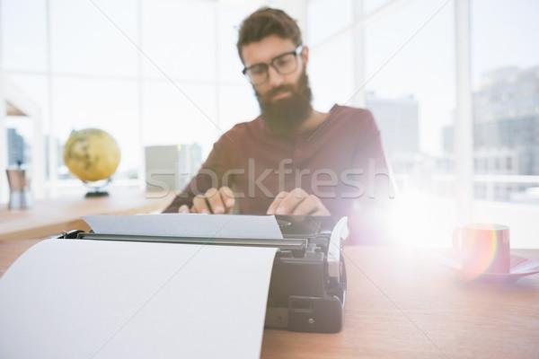 человека машинку работу окна костюм Сток-фото © wavebreak_media