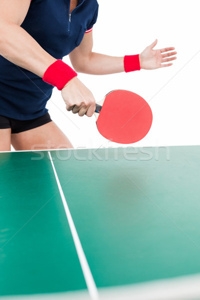 Ping pong player hitting the ball Stock photo © wavebreak_media