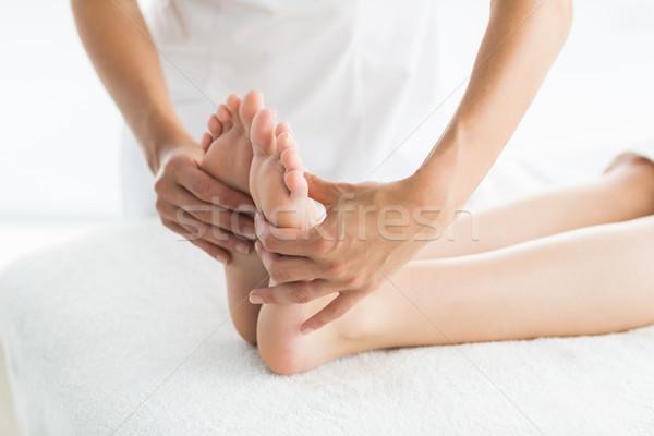 Kép masszőr láb masszázs nő fürdő Stock fotó © wavebreak_media