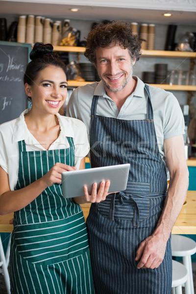 Portre garson garson dijital tablet Stok fotoğraf © wavebreak_media